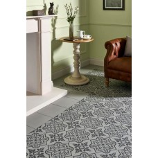 Odyssey Pentillie Dark Grey on Grey 8739 Porcelain tile Decorated 298x298mm Original Style