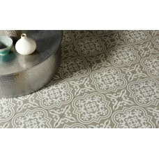 Odyssey Vogue White on Grey 8740 Porcelain tile Decorated 298x298mm Original Style