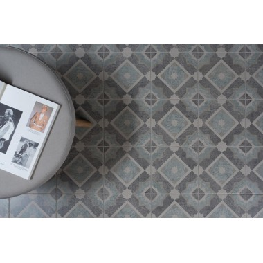 Mezzo Volante, Porcelain Blue tile , 8201, 200 x 200mm Odyssey Original Style