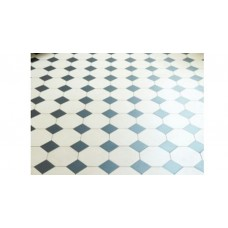 Chesterfield with Simple victorian floor tile design