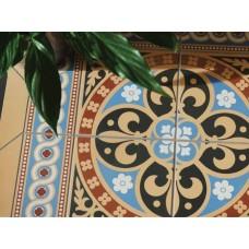 """Original Style 6260V blue / red Gladstone 4 Tile Set 304 x 304   12 x 12"""" decorative tile"""