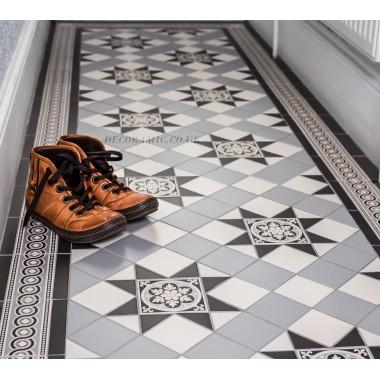 Blenheim 3 Colour Original Style Victorian Floor Tiles