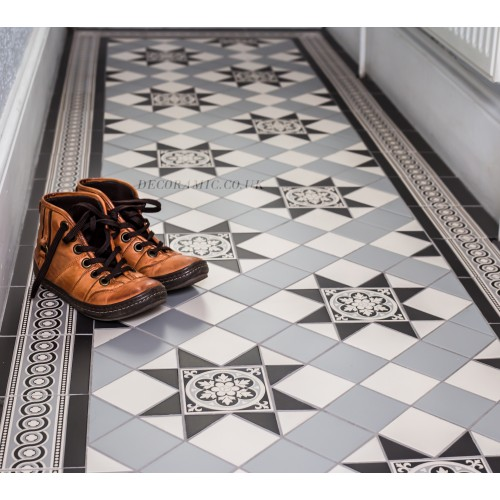 Blenheim 3 Colour Original Style Victorian Floor Tiles