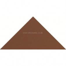 "Original Style 6112V red triangle 50 x 36 x 36 | 2 x 1 1/2 x 1 1/2"" plain tile"