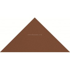 "Original Style 6113V red triangle 73 x 52 x 52 | 3 x 2 x 2"" plain tile"