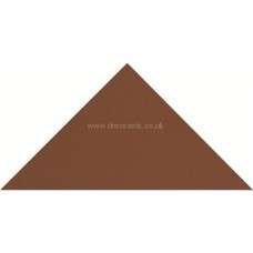 "Original Style 6114V red triangle 104 x 73 x 73 | 4 1/8 x 3 x 3"" plain tile"
