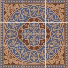 "Original Style 6261V blue Disraeli 9 Tile Set 457 x 457 | 18 x 18"" decorative tile"