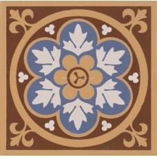 "Original Style 6265V blue Livingstone 106 x 106   4 1/8 x 4 1/8"" decorative tile"