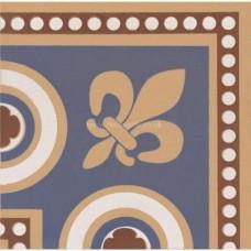 "Original Style 6270V blue Telford Corner 75 x 75   3 x 3"" decorative tile"