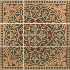 "Original Style 6276V green Disraeli 9 Tile Set 457 x 457 | 18 x 18"" decorative tile"