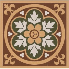 "Original Style 6278V green Livingstone 106 x 106 | 4 1/8 x 4 1/8"" decorative tile"