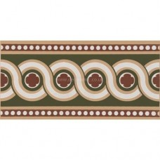 "Original Style 6280V green Telford Border 151 x 75 | 6 x 3"" decorative tile"