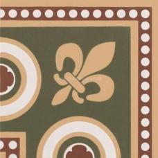 "Original Style 6281V green Telford Corner 75 x 75   3 x 3"" decorative tile"