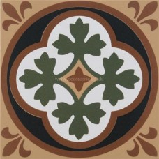 "Original Style 6283V white / buff Liverpool 151 x 151   6 x 6"" decorative tile"
