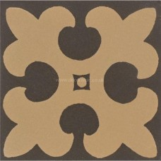 "Original Style 6286V buff on black Gordon 53 x 53 | 2 x 2"" decorative tile"