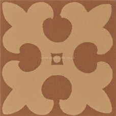 "Original Style 6287V buff on red Gordon 53 x 53 | 2 x 2"" decorative tile"
