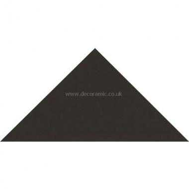 "Original Style 6313V black triangle 73 x 52 x 52 | 3 x 2 x 2"" plain tile"