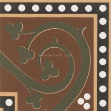 "Original Style 6575V green Kitchener Corner 75 x 75 | 3 x 3"" decorative tile"