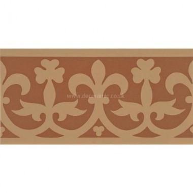"Original Style 6578V buff on red Elgin Border 151 x 75   6 x 3"" decorative tile"