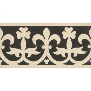 "Original Style 6580V black on white Elgin Border 151 x 75 | 6 x 3"" decorative tile"