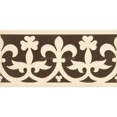 "Original Style 7900V brown on white Elgin Border 151 x 75   6 x 3"" decorative tile"