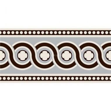 "Original Style 7966V black on dover white Telford Border 151 x 75 | 6 x 3"" decorative tile"