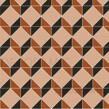 Art Deco (B) with Shelley victorian floor tile design