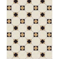 Arundel 3 Colour dark Original Style Victorian Floor Tiles