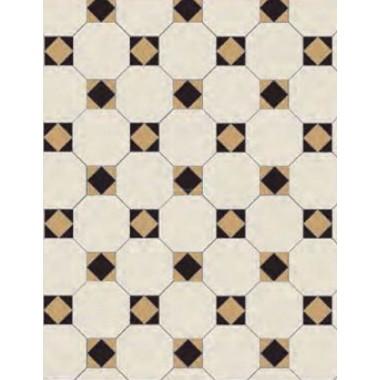 Arundel 3 Colour dark Original Style Victorian Floor Tiles