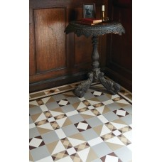 Colchester with Thackeray victorian floor tile design