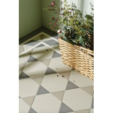 Hexham with Rossetti victorian floor tile design