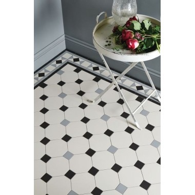 Nottingham 3 Colour with Conrad victorian floor tile design
