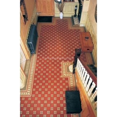 Arundel with Bronte victorian floor tile design
