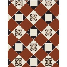 Fotheringhay with Simple victorian floor tile design