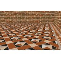 Highclere with Kingsley victorian floor tile design