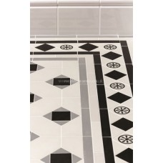 Huntingdon with Bronte victorian floor tile design