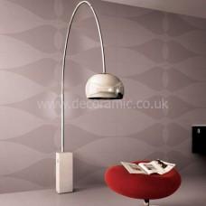 Paris Brown Teardrop Pattern Porcelain Tile 1200x600mm Matt thin porcelain tile by Porcel-Thin
