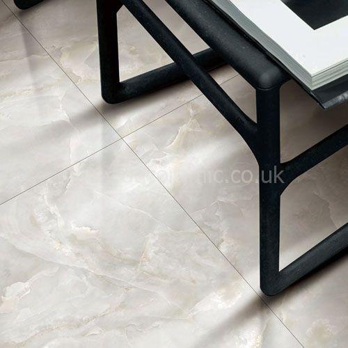 Marble Glacier White Marbles Porcelain Tile 1200x600mm Polished
