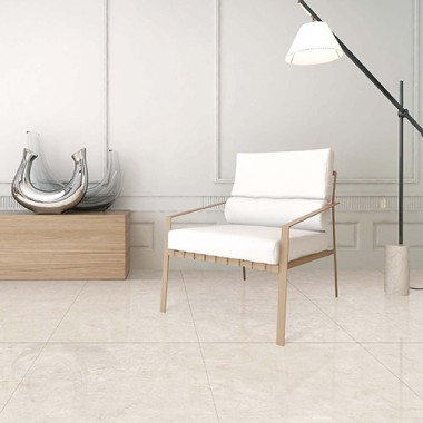 Galala Marble Effect Antibacterial porcelain tile 140x80cm by Porcel-Thin