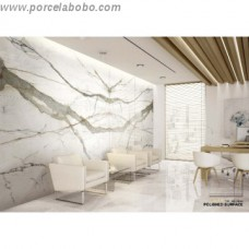 Calacatta Book Match Porcelain Tile 1200x600mm Matt thin porcelain tile by Porcel-Thin
