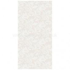 Paris White Vintage Floss Pattern Porcelain Tile 1200x600mm Matt thin porcelain tile by Porcel-Thin