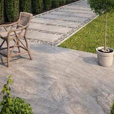 Barrington Grey Matt Porcelain tile P10685 60x90cm Verona Al Fresco