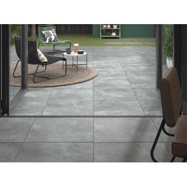 Welford Grey Matt Porcelain tile P11201 59.5x59.5x1cm Verona Al Fresco
