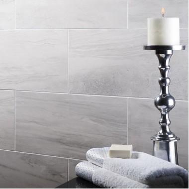 Tech Marble Grey Matt Porcelain tile P10166 308x615mm Verona