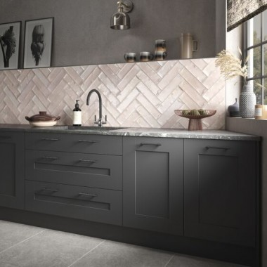Hope Rose Gloss Ceramic Wall tile  P11068 75x300mm Verona