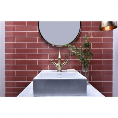 Spring Crackle Glazed Ceramic tile W.ELPSP2406 240x60mm Elements The Winchester Tile Company