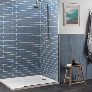 Stream Crackle Glazed Ceramic tile W.ELPST2406 240x60mm Elements The Winchester Tile Company