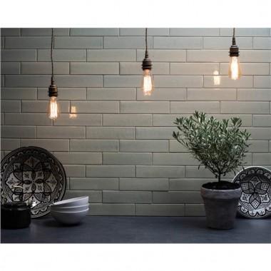 Tundra Crackle Glazed Ceramic tile W.ELPTU2406 240x60mm Elements The Winchester Tile Company