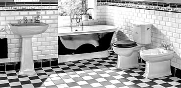 Victorian tiles in bathrooms