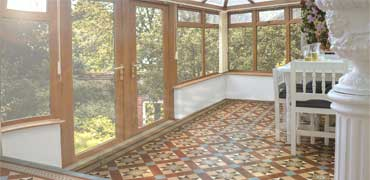 Victorian tiles in conservatories